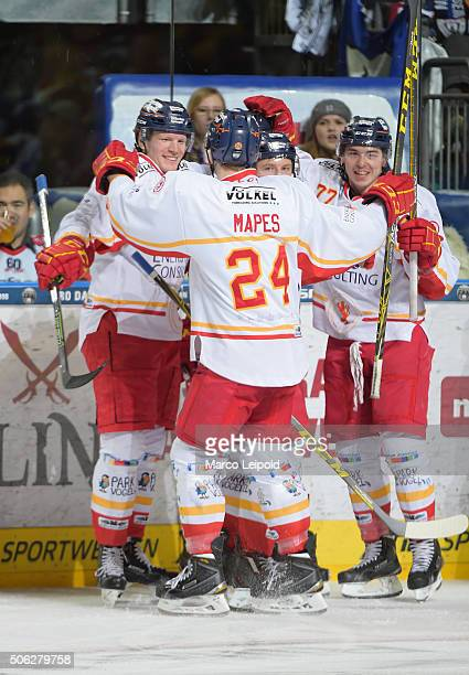 Team during the DEL game between the Eisbaeren Berlin and Duesseldorfer EG on January 22 2016 in Berlin Germany