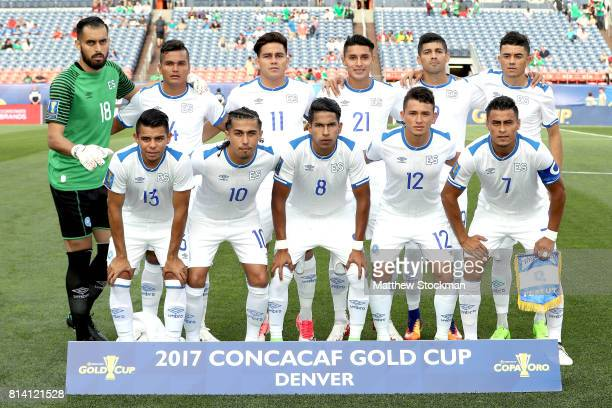 Team El Salvador poses for a group photo before their match against Curacao during the 2017 CONCACAF Gold Cup at Sports Authority Field at Mile High...