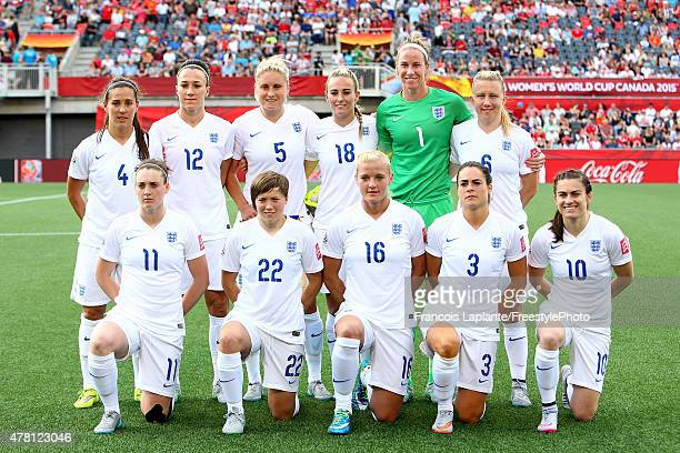 Team England poses for a group photo prior to their match against Norway during the FIFA Women's World Cup Canada 2015 round of 16 match between...