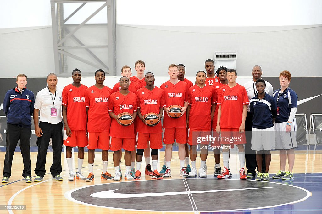 Team England team picture before the Nike International Junior Tournament game between INSEP Paris v Team England at London Soccerdome on May 10, 2013 in London, United Kingdom.