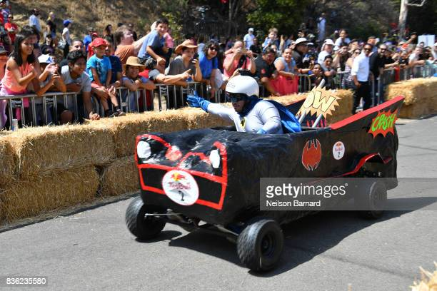 Team Fatman participate in the Red Bull Soapbox Race 2017 at Elysian Park on August 20 2017 in Los Angeles California Seventy teams compete in this...