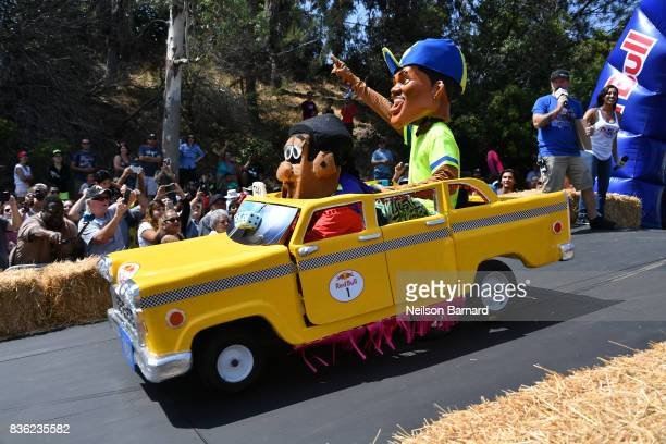 Team Fresh Prince participate in the Red Bull Soapbox Race 2017 at Elysian Park on August 20 2017 in Los Angeles California Seventy teams compete in...