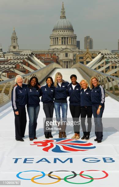 Team GB 2012 Ambassadors and Olympic legends Mary Peters Tessa Sanderson Dame Kelly Holmes Sharron Davies Denise Lewis Jayne Torvill and Sally...