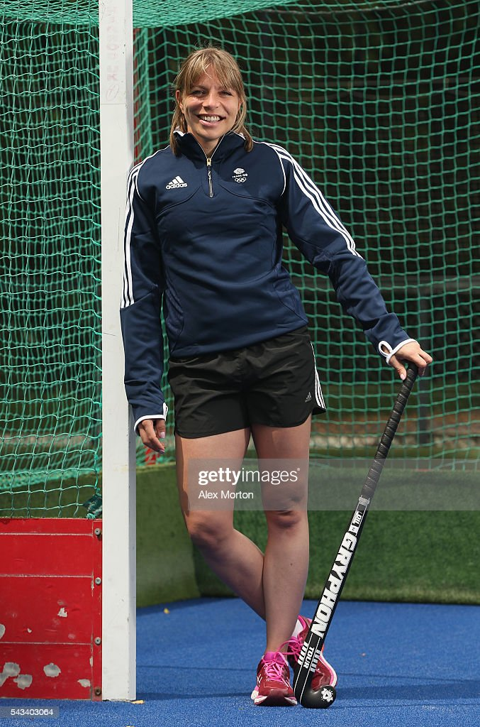 Team GB captain <a gi-track='captionPersonalityLinkClicked' href=/galleries/search?phrase=Kate+Richardson-Walsh&family=editorial&specificpeople=13415247 ng-click='$event.stopPropagation()'>Kate Richardson-Walsh</a> during the Announcement of Hockey Athletes Named in Team GB for the Rio 2016 Olympic Games at the Bisham Abbey National Sports Centre on June 28, 2016 in Marlow, England.
