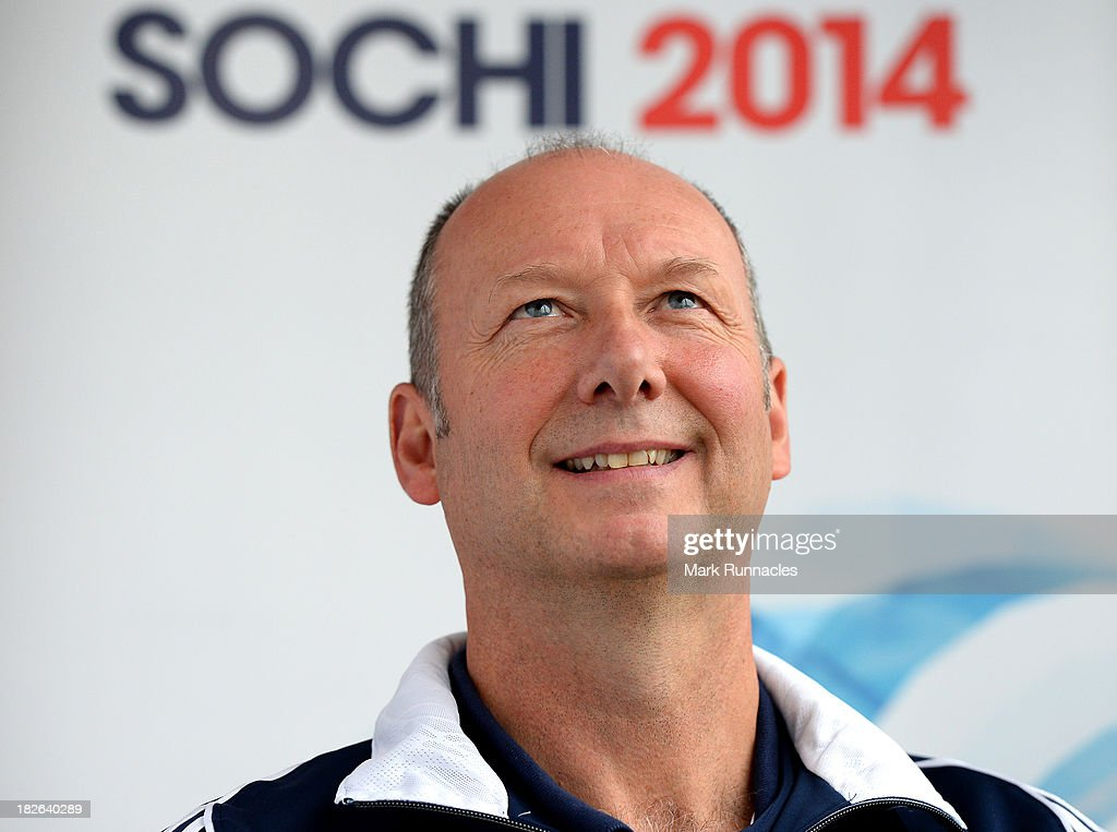Team GB Chef de Mission Mike Hay during a press conference to announce the Team GB Curling team for the Sochi 2014 Winter Olympic Games at The Peak, Stirling Sports Village on October 02, 2013 in Stirling, Scotland.
