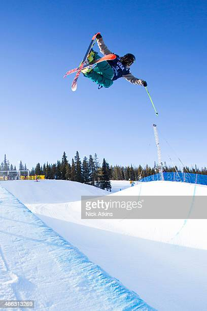 Team GB Skier Murray Buchan flying high in the half pipe at the 2013 US Grand Prix on Copper Mountain on 6 December 2013 in Frisco Colorado