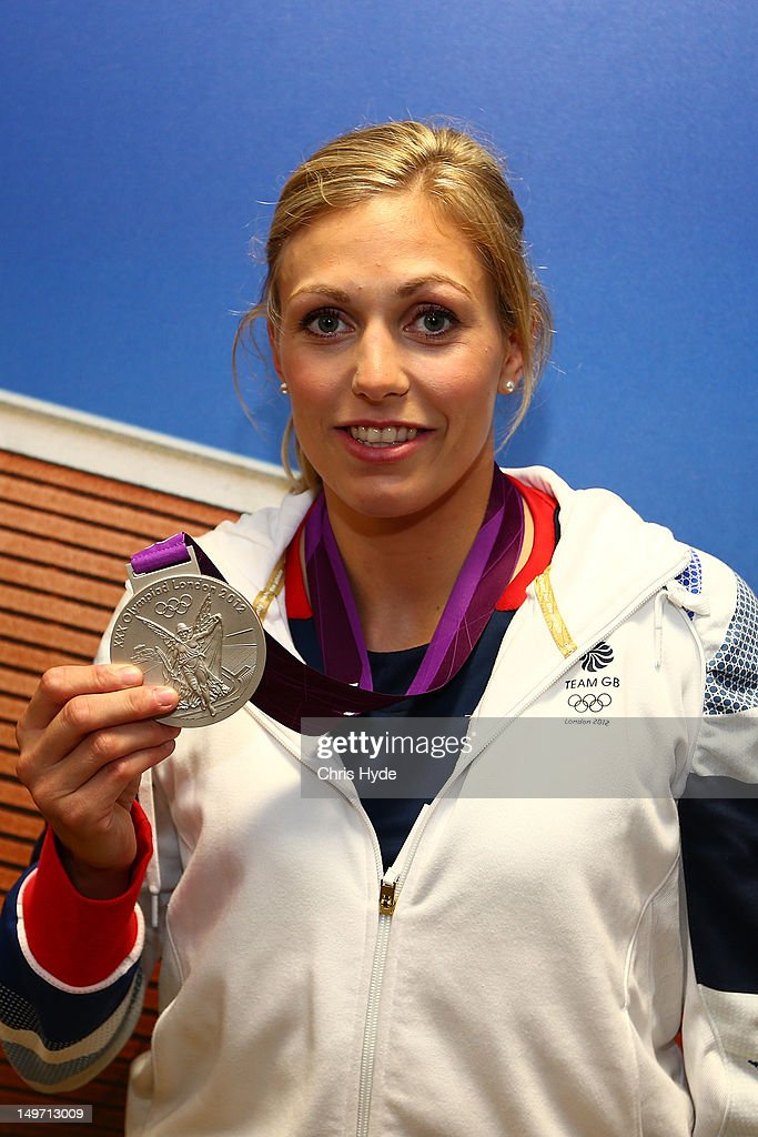 Team GB Women's-78kg Judo Gold medalist <a gi-track='captionPersonalityLinkClicked' href=/galleries/search?phrase=Gemma+Gibbons&family=editorial&specificpeople=7541729 ng-click='$event.stopPropagation()'>Gemma Gibbons</a> poses with her Silver medal at Team GB House in Stratford on August 2, 2012 in London, England.