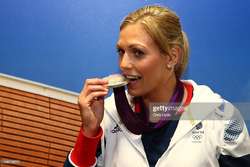 Team GB Women's-78kg Judo Silver medalist <a gi-track='captionPersonalityLinkClicked' href=/galleries/search?phrase=Gemma+Gibbons&family=editorial&specificpeople=7541729 ng-click='$event.stopPropagation()'>Gemma Gibbons</a> poses with her Silver medal at Team GB House in Stratford on August 2, 2012 in London, England.