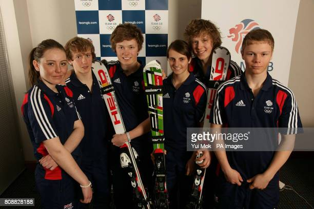 Team GB's Alpine Skiers Natalie Beattie from Dundee Paul Henderson from Edinburgh Nick Moynihan from London Emily Evans from Chatham Jack Gower from...