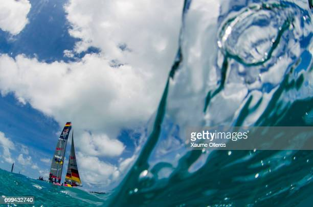 Team Germany of Germany competes during the Red Bull Youth America's Cup finals on June 21 2017 in Hamilton Bermuda