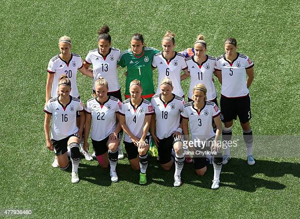 Team Germany pose for a team photo prior to the FIFA Women's World Cup Canada 2015 round of 16 match between Germany and Sweden at Lansdowne Stadium...