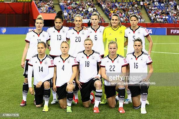 Team Germany poses for a team photo prior to their game at the FIFA Women's World Cup Canada 2015 quarter final match between Germany and France at...