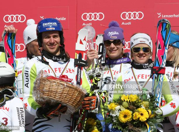 Team Germany takes 1st place during the Audi FIS Alpine Ski World Cup Nations Team Event on March 20 2011 in Lenzerheide Switzerland