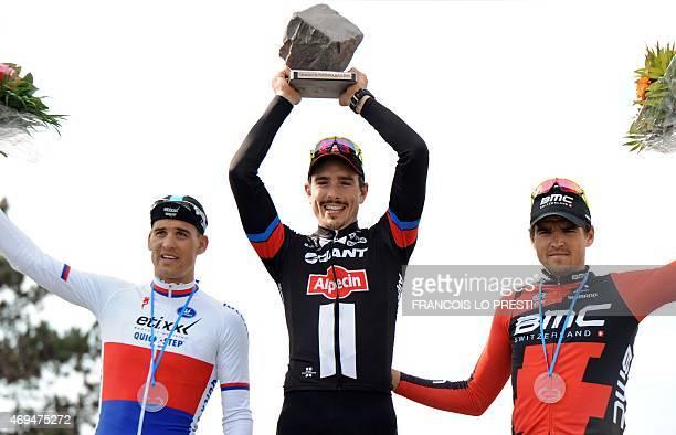 Team GiantAlpecin German cyclist John Degenkolb EttixQuickStep Team Czech cyclist Zdenek Stybar and BMC Racing Team Belgian cyclist Greg Van Avermaet...
