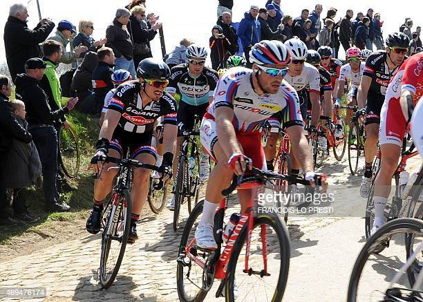 Team GiantAlpecin German cyclist John Degenkolb rides during the 113th edition of the ParisRoubaix ParisRoubaix oneday classic cycling race in...