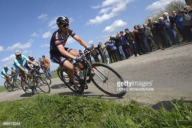 Team GiantAlpecin German cyclist John Degenkolb rides to win the 113th edition of the ParisRoubaix ParisRoubaix oneday classic cycling race in...
