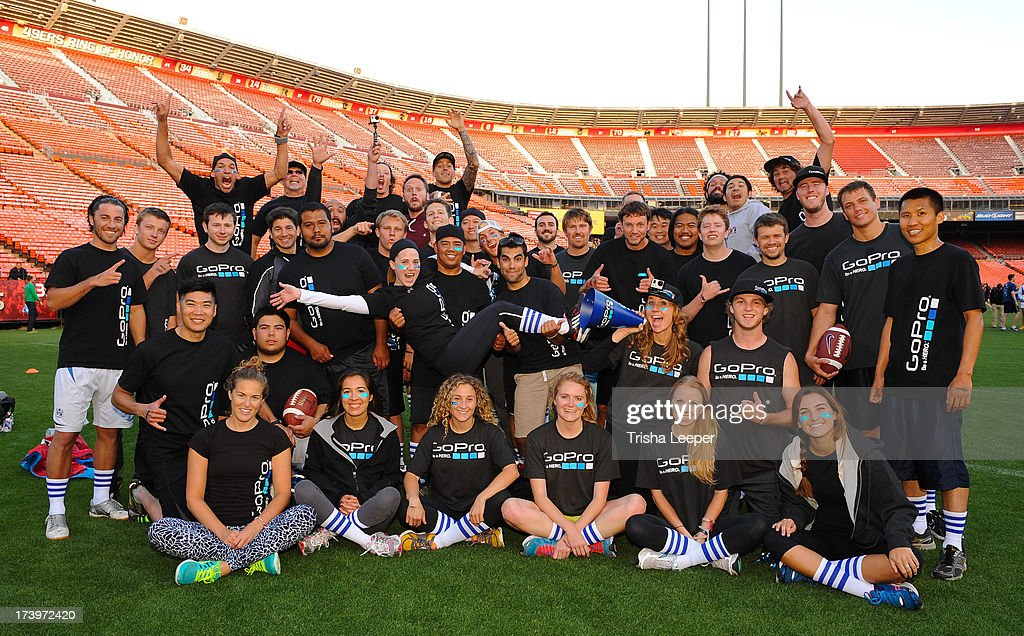 Team Go Pro attends founders Institutes Tech Carnival 2013 at Candlestick Park on July 17, 2013 in San Francisco, California.
