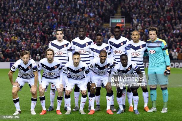 A team group photo of Bordeaux Back Row LR Enzo Crivelli Cedric Yambere Abdou Traore Ludovic Sane Jussie and Cedric Carrasso Front Row LR Clement...