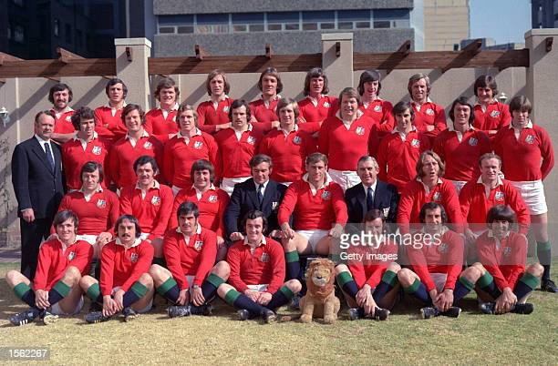 Team group photograph taken during the British Lions tour to South Africa Mandatory Credit Allsport UK /Allsport