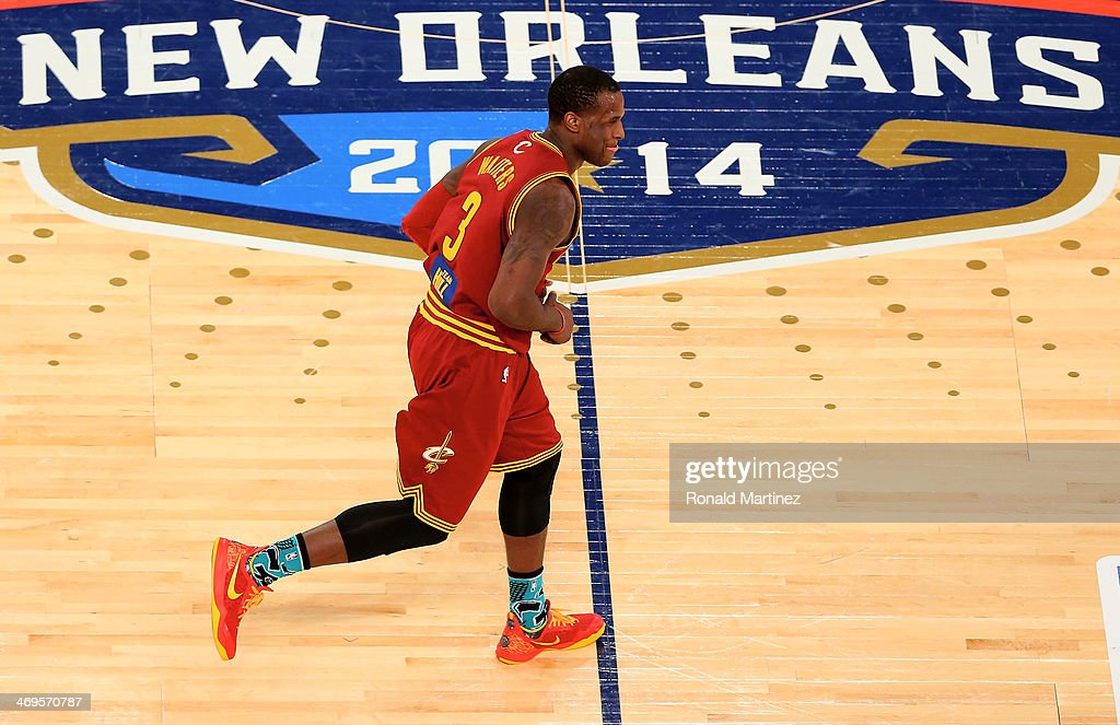 Team Hill's <a gi-track='captionPersonalityLinkClicked' href=/galleries/search?phrase=Dion+Waiters&family=editorial&specificpeople=6902921 ng-click='$event.stopPropagation()'>Dion Waiters</a> #3 of the Cleveland Cavaliers runs on the court during the BBVA Compass Rising Stars Challenge 2014 as part of the 2014 NBA Allstar Weekend at the Smoothie King Center on February 14, 2014 in New Orleans, Louisiana.