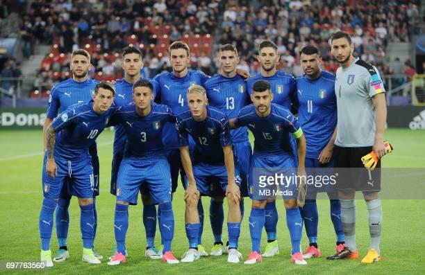 team italy 1 Gianluigi Donnarumma 12 Andrea Conti 4 Daniele Rugani 13 Mattia Caldara 3 Antonio Barreca 6 Lorenzo Pellegrini 18 Roberto Gagliardini 15...