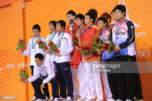 Team Japan Yuki Kobori Sho Uchida Shunsuke Kuzuhara and Takeshi Matsuda Team China Zhang Lin Jiang Haiqi Li Yun Qi and Sun Yang and Team South Korea...