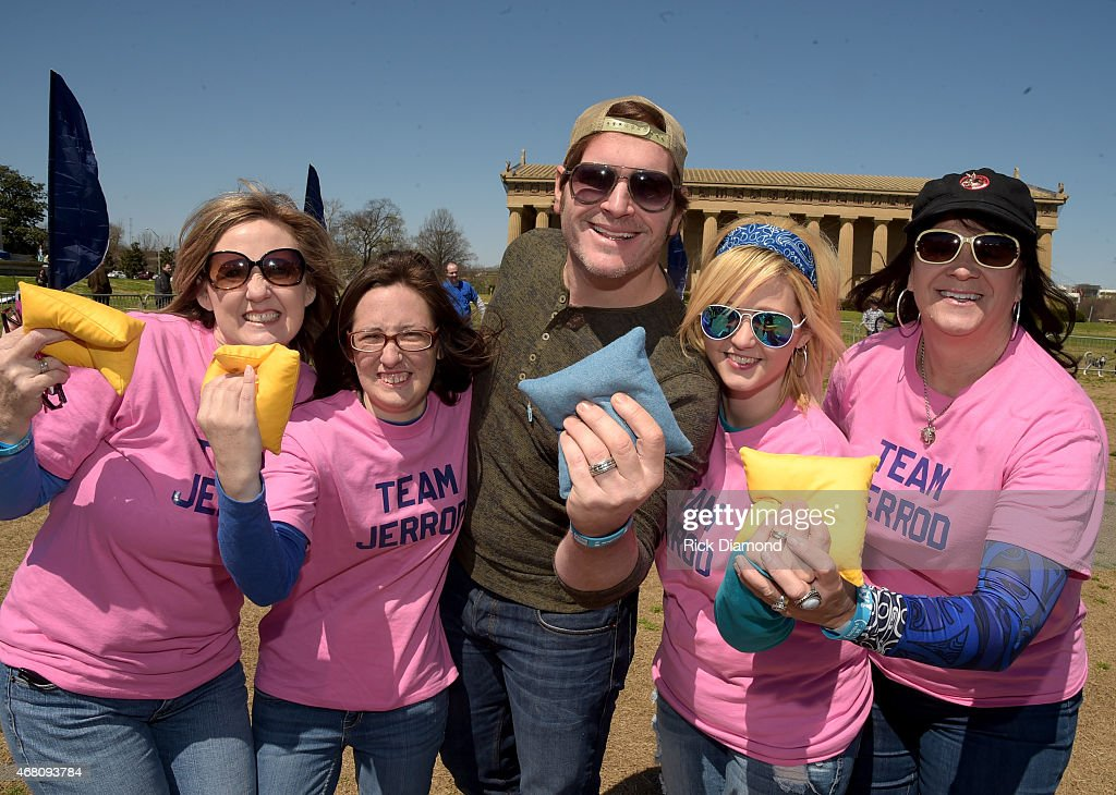 Team Jerrod Niemann during the 3rd Annual Craig Campbell Celebrity Cornhole Challenge to Fight Colorectal Cancer at Centennial Park on March 29, 2015 in Nashville, Tennessee.