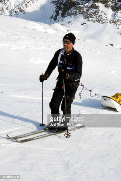 Team Leader Henry Worsley during a training run on the Korridoren glacier in Milne Land Greenland