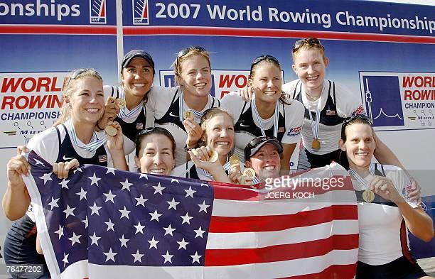US team Lindsay Shoop Anna Mickelson cox Mary Whipple Cary Davies and Brett Sickler Anna Goodale Samantha Magee Zsuzsanna Francia Caroline Lind...