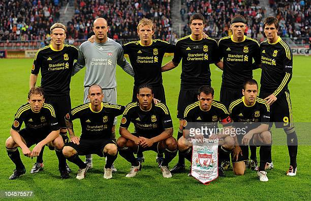 Team Lineup during the Group K UEFA Europa League match between FC Utrecht and Liverpool at the Stadion Galgenwaard on September 30 2010 in Utrecht...