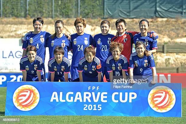 Team lineup of Japan with Saki Kumagai Rumi Utsugi Yuika Sugasawa Yuri Kawamura Ayumi Kaihori Yuki Ogimi and Yuraki Kinga Shinobu Ohno Aya Miyama...