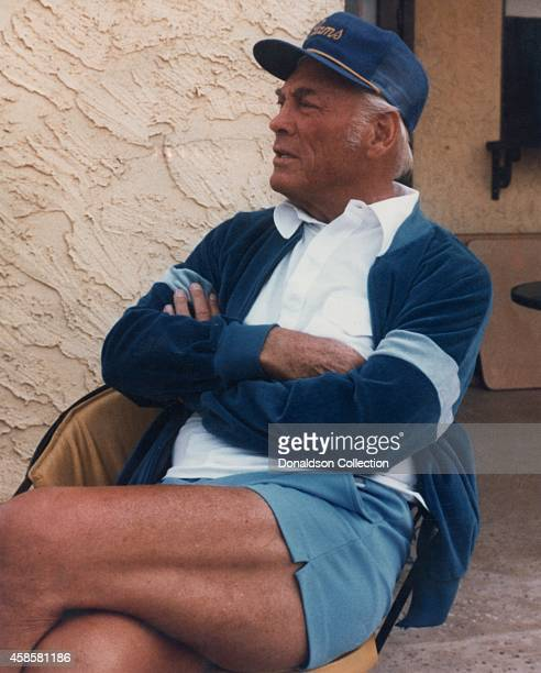 NFL team Los Angeles Rams owner and businessman Carroll Rosenbloom poses for a portrait wearing a Rams cap in circa 1976 in Los Angeles California