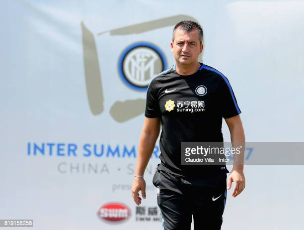 Team Manager FC Internazionale Fabio Pinna attends a FC Interazionale training session at Suning training center on July 20 2017 in Nanjing China