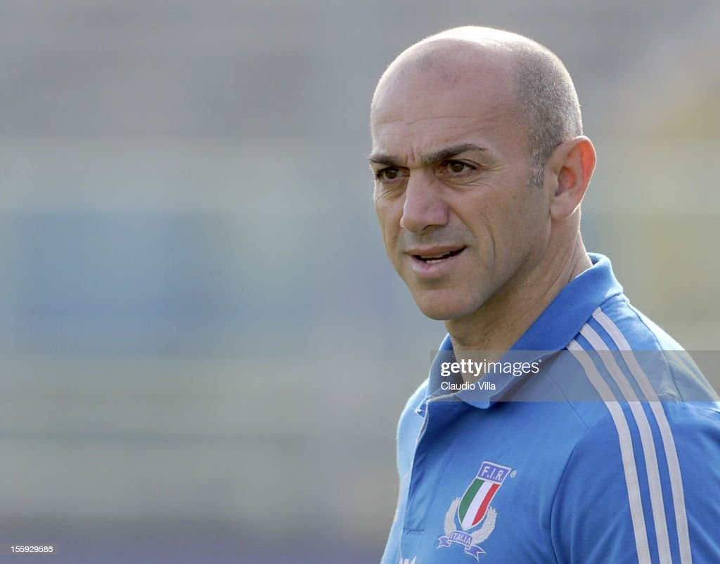 Team manager Luigi Troiani during Italy Captain's Run at Mario Rigamonti Stadium on November 9, 2012 in Brescia, Italy.