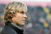 Team Manager of Juventus Pavel Nedved during the Serie A match between US Citta di Palermo and Juventus FC at Stadio Renzo Barbera on March 14 2015...