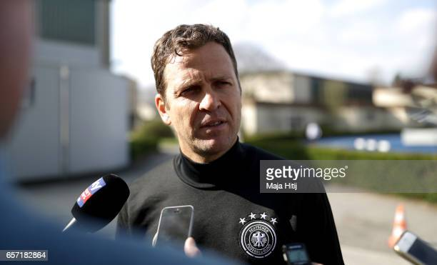 Team manager Oliver Bierhoff is seen during a Germany training session on March 24 2017 in Kamen Germany