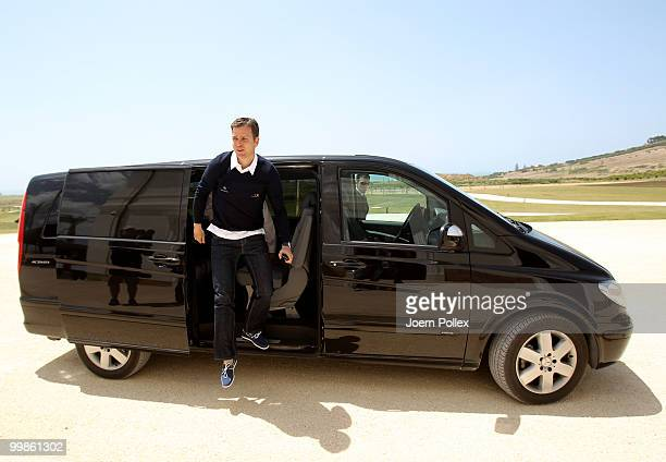 Team manager Oliver Bierhoff of Germany arrives for a press conference at Verdura Golf and Spa Resort on May 18 2010 in Sciacca Italy