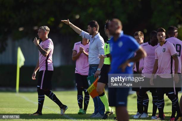 Team Manager Vincenzo Todaro of Palermo in action during a friendly match between US Citta' di Palermo and Monreale at Carmelo Onorato training...