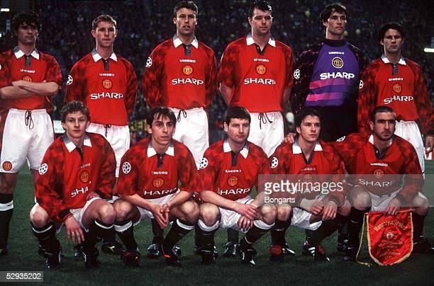 FUSSBALL Champions League DORTMUND MANCHESTER 10 Team Manchester United 090497