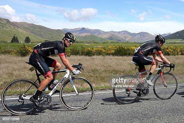 Team mates Tim Rush of Oamaru and Regan Gough of Waipukurau head towards Coronet Peak from Mossburn during stage three of the 2016 Tour of Southland...