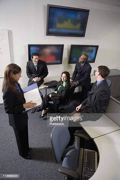 Team meeting in an office