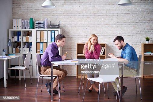 Team meeting : Stock Photo