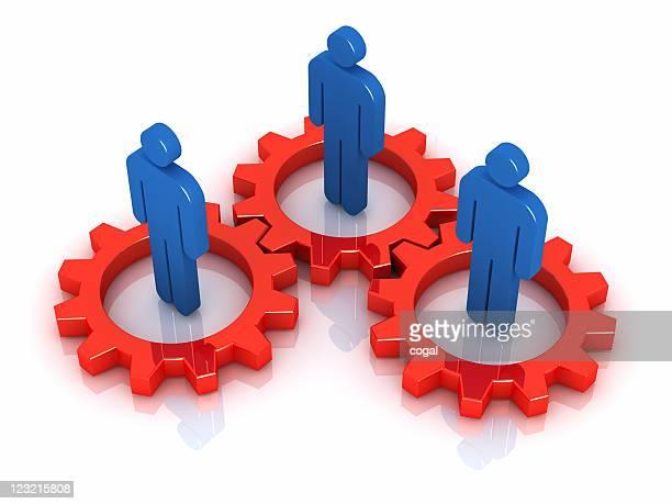 Team members in gears