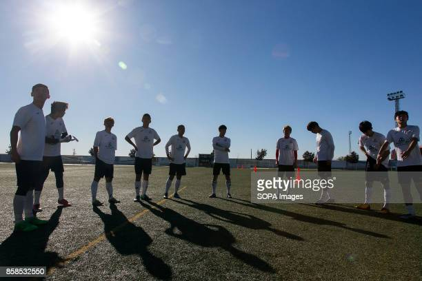 FIELD ILLESCAS TOLEDO SPAIN Team members seen at daily training The town of Illescas in Toledo in Spain welcomed a football team of South Korean...
