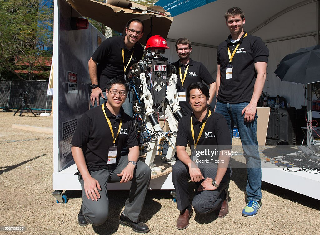 Team MIT BIOMIMETIC during The UAE AI & Robotics Award for Good at Dubai Internet City on February 6, 2016 in Dubai, United Arab Emirates where the winners of the USD 1 million international competition and the AED 1 million national competition will be announced.