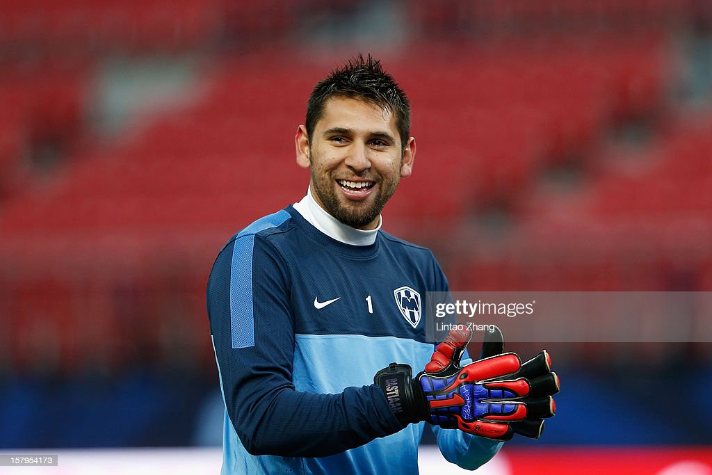 Team Monterrey goalkeepers Jonathan Orozco looks on during CF Monterrey training session at Toyota Stadium on December 8, 2012 in Toyota, Japan.