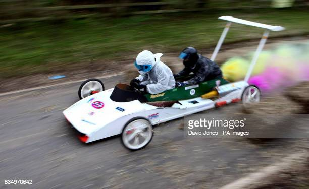 'Team Muppett' tear through the chicane at the Hoar Cross Downhill soapbox competition The competition organised by the 'Mad Club' in aid of charity...