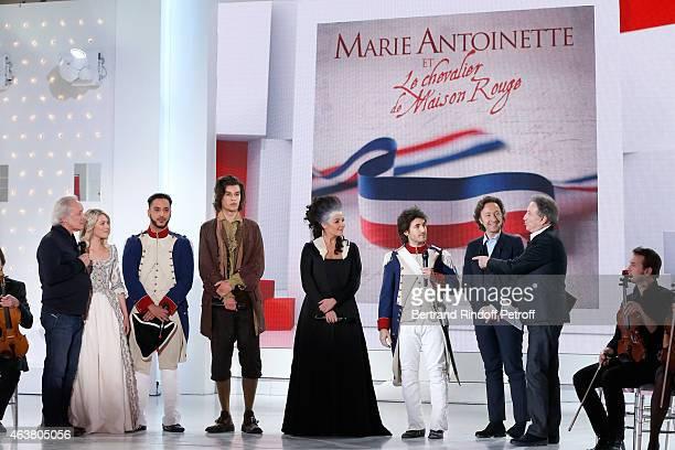 Team Musical Comedy 'Marie Antoinette et le Chevalier de Maison Rouge' Autor Didier Barbelivien Aurore Delplace Slimane Valentin Marceau Kareen...