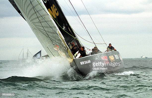 Team New Zealand cut through the water on their way to beating Prada and winning the America's Cup series 50