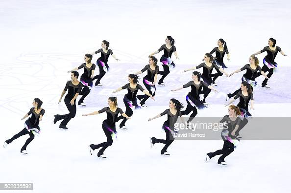Team Nexxice of Canada performs during the Synchronized Skating Free program during day three of the ISU Grand Prix of Figure Skating Final 2015/2016...